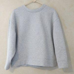 Vince Oversized Cotton Pullover Sweatshirt Gray